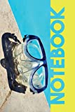 Notebook: Scuba Mask Colorful Composition Book for Notes on snorkeling near me
