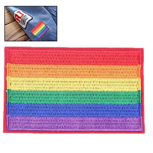 Hotaden Aufnäher Rainbow Flag Jeansjacke Applique Arm Abzeichen Streifen Auf Kleidung Für Jeans Caps Zubehör Für Heimwerker
