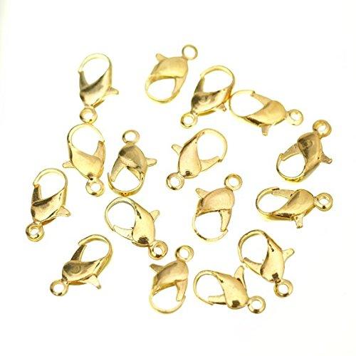 Fünf Season 7 x 12 mm, vergoldet, mit Karabinerverschluss, Anhänger für Armbänder, Halsketten Jewelry (20 Stück) (20 Anhänger Halskette)