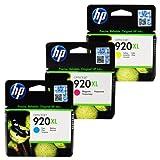 HP Officejet 920XL 3 Inkjet Tintenpatronen Farbe Kombi/Vorteilspack - Cyan Magenta Gelb