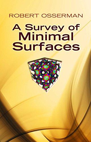 A Survey of Minimal Surfaces (Dover Books on Mathematics) por Robert Osserman