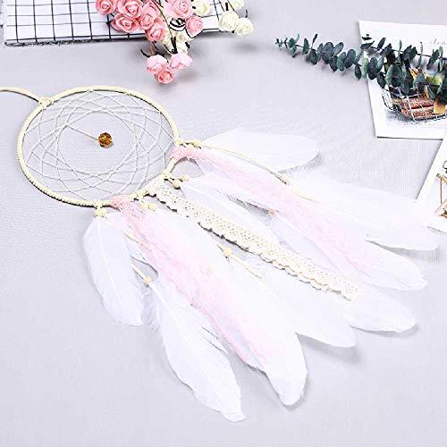 Feixiangge Dreamnet Chica Viento Campana Colgante envía Amiga Mujer Regalo pequeña decoración Colgante Pluma Fresca Corazón de Doncella 04