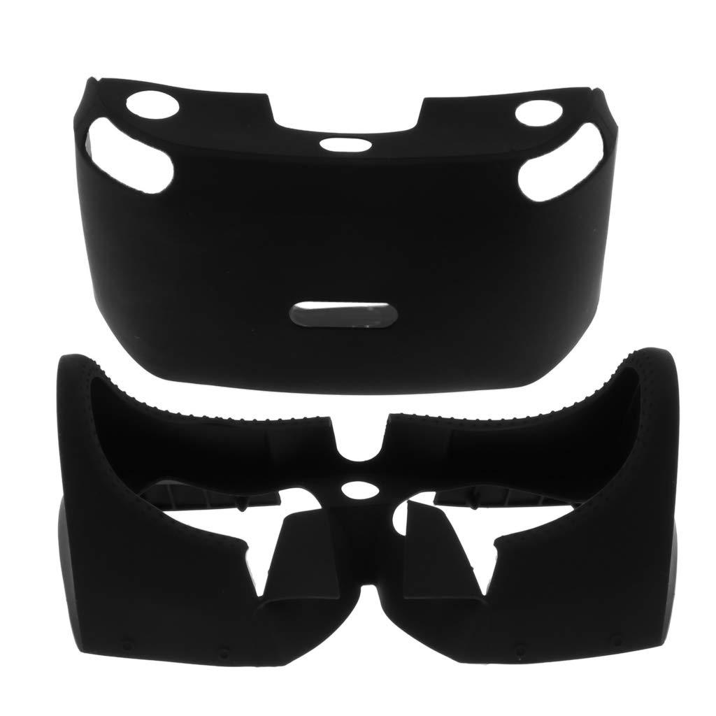 P Prettyia 862/5000 Doux VR Casque Anti-dérapant en Caoutchouc de Silicone Housse de Protection Bouclier d'oeil pour Playstation PS4