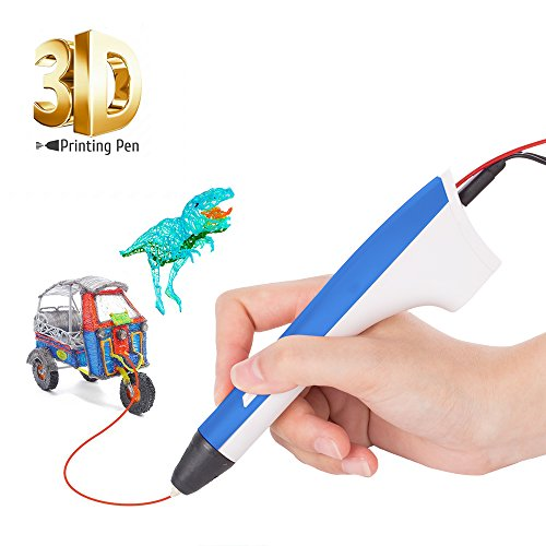3D Printing Pen, SUNLU 3D Drawing Pen, 1 Button Operation, Fingerstalls & PCL,PLA 3D printer fialment Refills, Gifts & Toys For kids & Adults Doodler/ 3D Modeling Creative/ Education, Blue