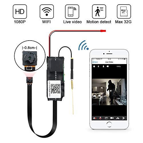 Mini Kamera LXMIMI 1080 P WiFi Wireless Mini Camera Nanny Cam Home Security Mini Kamera mit Nachtsicht und Bewegungserkennung App Steuerung für IOS und Android