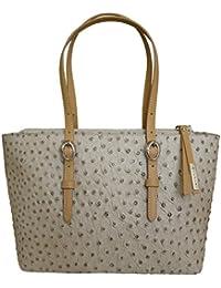 Nicoli Exotic italienne sac fourre-tout en cuir Sac shopping - brun tan