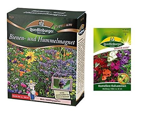 Premium Bienen und Hummelmagnet inkl. 1 Pkg. Kamelien-Balsaminen kostenlos - Blumenwiese