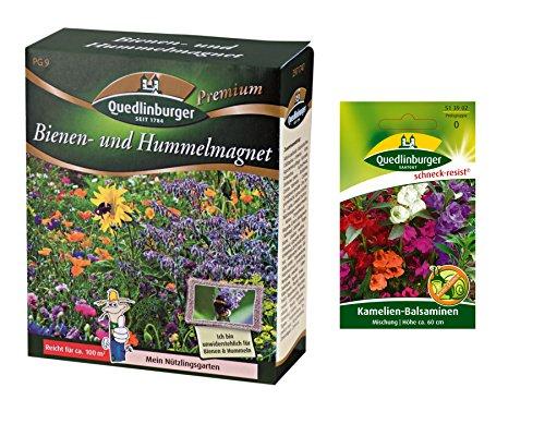 Magnete di api e calabrone | Prato fiorito | 1x balsamina di camelia libera (resistente alla lumaca) | ora prezzo speciale invernale