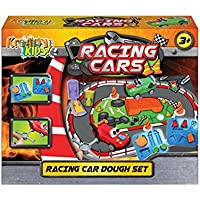 Racing Cars Dough Set - Boys Creative Toys - Includes Track