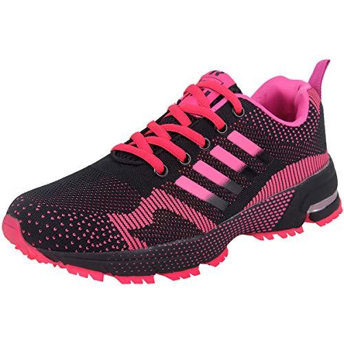Wealsex Zapatos para Correr En Montaña Asfalto Aire Libre Deportes Zapatillas De Running para Mujer (Rosa,40)