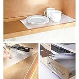 Kitchen Linen Anti Slip Eva Mat/Shelf Mat/Place Mat/mat For Kitchen/Drawer Mat/Multipurpose Mat (Size 45 X 150cm) Anti Slip Grip, Non Slip Liner, Skid Resistant Mat. 1pc (Transparent)