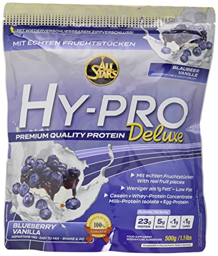 All Stars Hy-Pro Deluxe Protein, Blaubeer-Vanille, 1er Pack (1 x 500 g) -