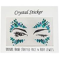 Gemas para la cara con purpurina – Cristales de purpurina para la cara del tatuaje de la cara del arcoíris pegatinas para fiesta de festival