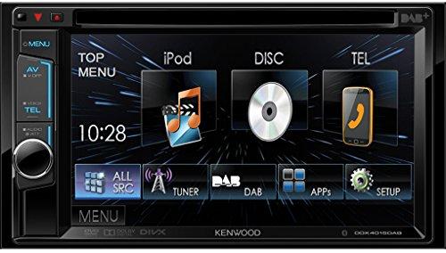 Kenwood DDX4015DAB Multimediasystem (15,7 cm (6,18 Zoll), DVD-Spieler, Bluetooth-Freisprecheinrichtung, DAB+ Tuner) mit Doppel-DIN-VGA-Monitor schwarz