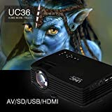 UNIC UC36 Mini LED Portable Projector Full HD Support Home Theater USB/AV/HDMI Audio Out