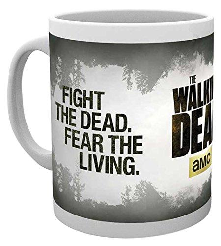 empireposter - Walking Dead, The - Fight The Dead - Größe (cm), ca. Ø8,5 H9,5cm - Lizenz Tassen,...