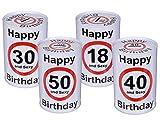 Bada Bing Spardose 18 Geburtstag Happy Birthday and sexy Warnschild Vorsicht