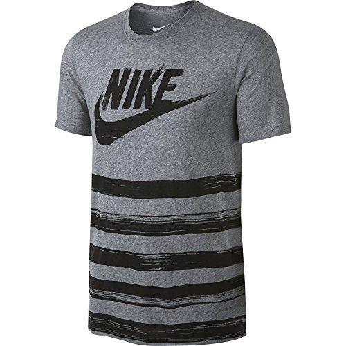 Nike tee-flow Motion Futura T-Shirt L Gris (Carbon Heather/Carbon