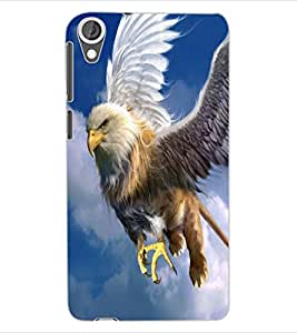 ColourCraft Flying Threat Design Back Case Cover for HTC DESIRE 820