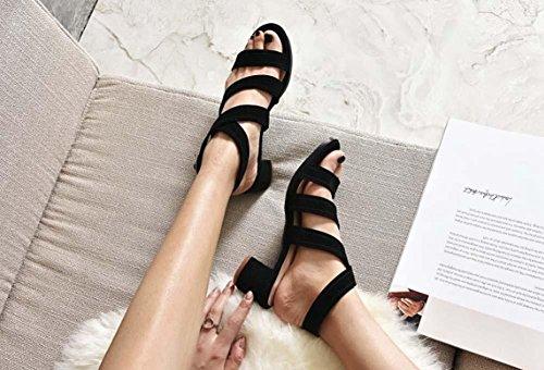 NobS Chaussures en cuir Boucles d'oreilles en caoutchouc Boucles d'oreilles Chaussures décontractées Black