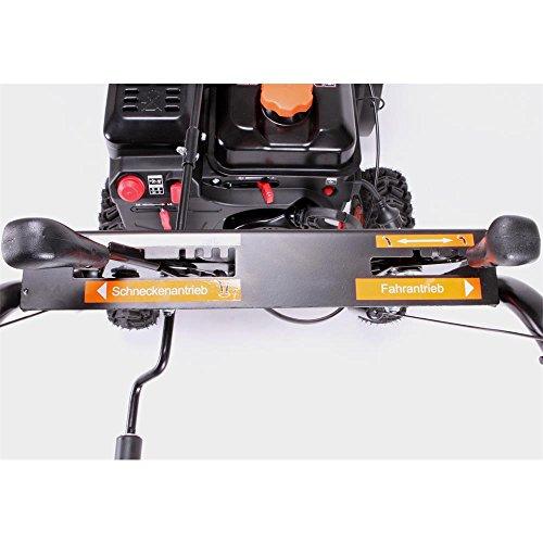 FUXTEC Benzin Schneefräse SF210 7,5 PS 230 Volt E-Starter Schneeräumgeräte - 6