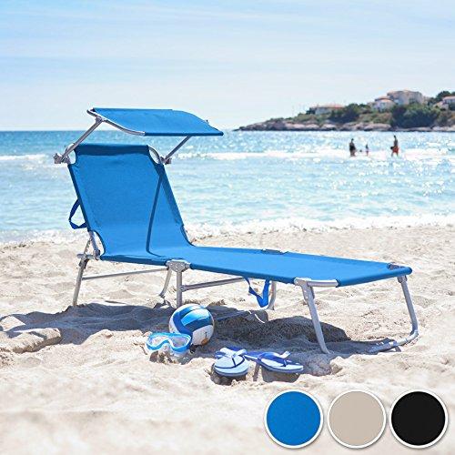 TecTake Gartenliege Sonnenliege (Blau) - 2