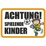 """Schild """"Achtung / Vorsicht spielende Kinder 1"""" aus Aluminium-Verbundmaterial 3mm stark 40 x 60 cm"""