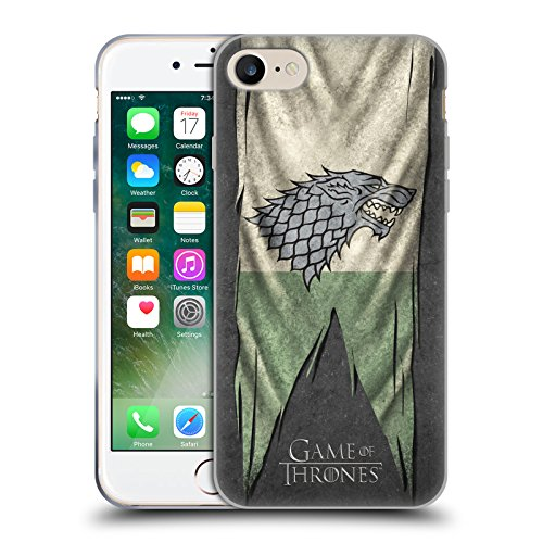 Offizielle HBO Game Of Thrones Lannister Sigil Flags Soft Gel Hülle für Apple iPhone 6 / 6s Stark