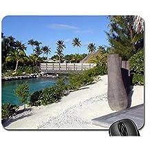 Thalasso Spa Resort Bora Bora - river canal off blue lagoon Polynesia Mouse Pad, Mousepad (Beaches Mouse Pad)