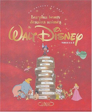 Les plus beaux dessins animés de Walt Disney Coffret 2 volumes : Tome 1 ; Tome 2