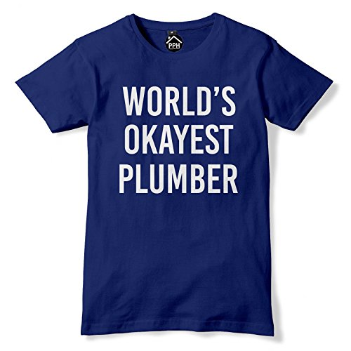 World Okayest Klempner T Shirt Blau - Navy