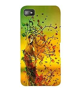 ColourCraft Girl Design Back Case Cover for BLACKBERRY Z10