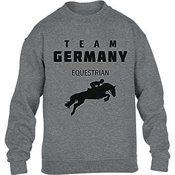 Team Germany Equestrian Pferde Springreiten Rio Youth Kids Sweatshirt