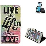 360° Funda Smartphone para Hisense Sero 5, 'live the life you love'   Wallet case flip cover caja bolsa Caso Monedero BookStyle - K-S-Trade