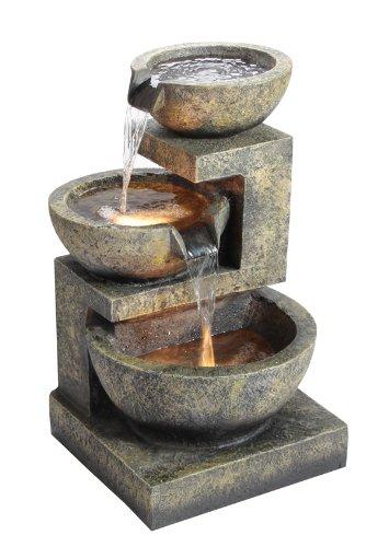 3-Schalen-Brunnen mit Beleuchtung