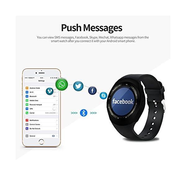 Fitness Tracker,Gearlifee IP68 Waterproof Reloj pulsera con monitor de ritmo cardíaco, presión arterial, oxígeno en la sangre, monitor de sueño, SMS, podómetro para iPhone Android(Banda de acero) 2