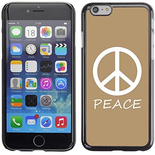 Graphic4You Peace Sign Friedenszeichen Design Harte Hülle Case Tasche Schutzhülle für Apple iPhone 6 Plus / 6S Plus (Aqua Blau) Hellbraun