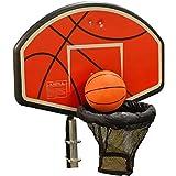 JumpKing Trampolin Basketballkorb mit Befestigung und aufblasbaren Basketball