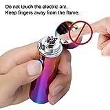 Qimaoo USB Elektronisches Feuerzeug Aufladbar Triple Lichtbogen Sturmfeuerzeug Zigarettenanzünder Ohne Flamme für Zigaretten Camping Vergleich