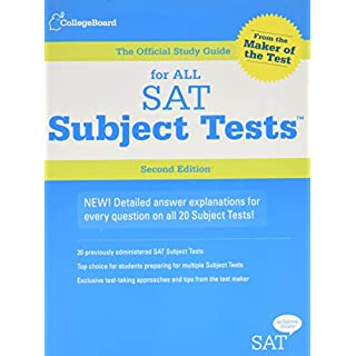 Official Study Guide for All SAT Subject Tests (REAL SATS)