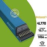 Courroie tondeuse 4L770 Continental Kevlar - 12,7 x 7,2 x 1956 mm - Pièce neuve