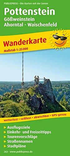 Pottenstein, Gößweinstein - Ahorntal - Waischenfeld: Wanderkarte mit Ausflugszielen, Einkehr- & Freizeittipps und Stadtplänen, wetterfest, reissfest, abwischbar, GPS-genau. 1:25000 (Wanderkarte / WK)