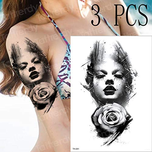 3pcs Aufkleber Tattoo Halloween Tattoo Design Zombie 3pcs-16