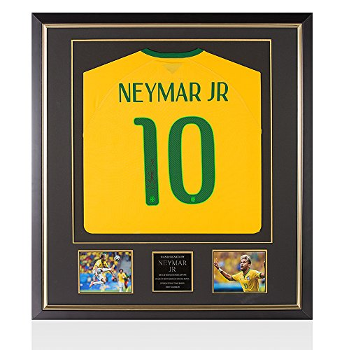 Framed-Neymar-Jr-Signed-Brazil-Shirt-World-Cup-2014-Premium-Framed