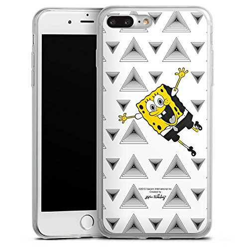 Apple iPhone 8 Slim Case Silikon Hülle Schutzhülle Spongebob Fanartikel Merchandise Triangle Mono Silikon Slim Case transparent