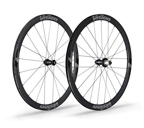 Vision Unisex 710-0059231030Massagegerät Trimax Carbon 40Disc Road Laufradsatz, schwarz, one Size -