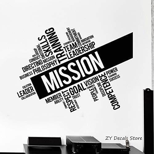 zhuziji Team Leadership Office Words Wall Sticker Mission Company Office Stickers murali personalità Design Wallpap 42x57cm