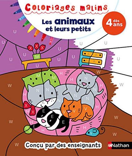 Coloriages malins Les animaux et leurs petits - Dès 4 ans par Mariana VIDAL