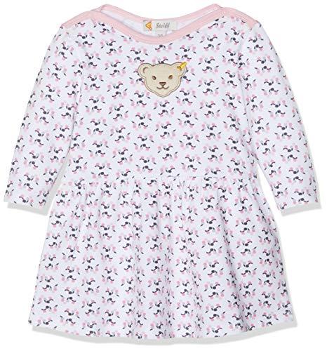 Steiff Baby-Mädchen Kleid, Weiß (Bright White 1000), 86 (Mädchen Silhouette Charme)