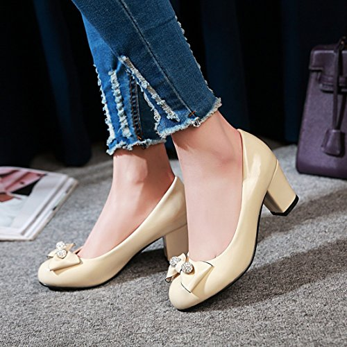 Con Nodo Fresca Di Beige Piattaforma Donne Strass Il Senza Delle Sandali Tacco Nozze Uh Elegante Ufficio Il Blocco Confortevole E qHXtZgBa